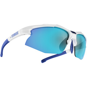 Bliz Hybrid M12 Lunettes, white /smoke with blue multi